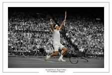 ROGER FEDERER 7 TIME CHAMPION WIMBLEDON 2012 TENNIS SIGNED AUTOGRAPH PRINT PHOTO