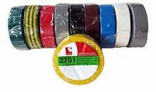 10x Scapa PVC Bande Isolante 2701 Coloré 15mm X 10m Iso Adhésif Mwst