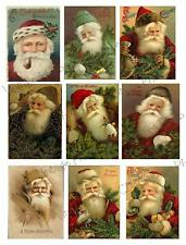 Vintage Santa Christmas Images Collage Sheet       C50