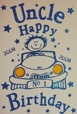 Uncle Birthday Card  with Blue Envelope