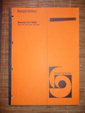 Service Manual Bang&Olufsen BeoLab LCS 9000 (1601-1605) ,ORIGINAL