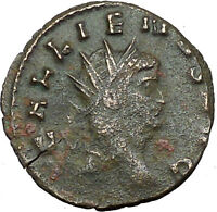 GALLIENUS son of Valerian I Authentic  Ancient  Roman Coin Antelope i34275
