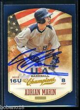 Adrian Marin signed autographed AUTO 2013 USA Champs card #99