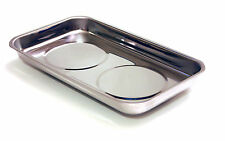 "Magnetic Parts Tray - 5-1/2"" x 9-1/2"" Inch - Chrome Plated Mechanics Part Trays"