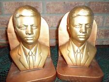 "President John F. Kennedy Historical Memorabilia Bookends HEAVY 7""T 4 3/4""W Vtg"