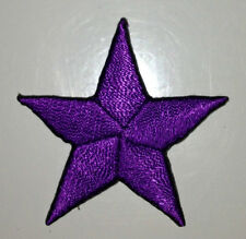 PURPLE 1/2 inch iron on star patch patches applique kid girl embellishment - 234