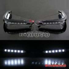 Clear Motorcross 22mm Handlebar Handguard With LED Lights Motorcycle Street Bike