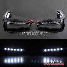 Clear Motorcross 22mm Handlebar Handguard With LED Lights Motorcycle Street Bike