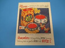 1952 Ritz Crackers, no other cracker can do so much for soup, Print Ad PA012