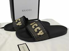 GUCCI Black Supreme Canvas Slide Sandal Size 11 519982