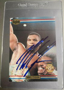 MIKE TYSON AUTOGRAPHED 1991 RINGLORDS PROMO ON CARD SIGNATURE