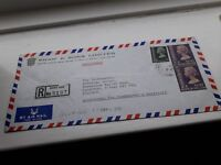 HONG KONG 1973 REGISTERED AIRMAIL COVER £9.99 POST FREE WORLDWIDE bx1