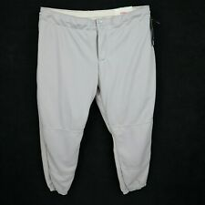 Wilson Softball Pants Womens Size XXL Gray Double Button Tie String Pocket Sport