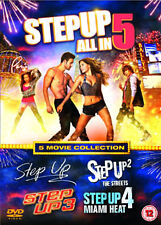 DVD:STEP UP 1 TO 5 - NEW Region 2 UK