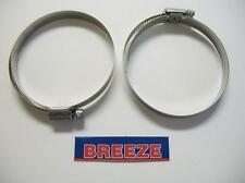 "2 Breeze Hose Liner Clamps 9448 All Stainless Steel 2 9/16""-3 1/2 Silicone 89mm"
