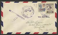 SURINAME TO USA AIRMAIL COVER 1929?