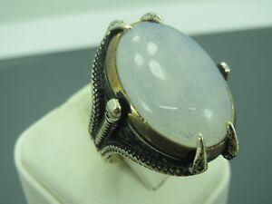 Turkish Handmade Jewelry 925 Sterling Silver Moonstone Stone Men Ring Sz 9