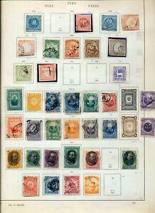 PERU 1858/1895 Imperf Perf Mint &Used (Apprx 45 Items) ZZ 1586