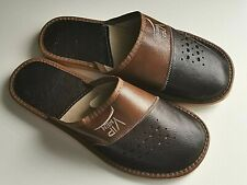 Leather Men Handmade House Slippers Mule Flip Flop Sandals US 8