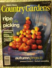 COUNTRY HOME~COUNTRY GARDENS MAGAZINE~OCTOBER 1998~AUTUMN PROJECTS~