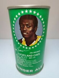 COTTON CLUB GINGER ALE  CLEVELAND CAVALIERS BASKETBALL JIM BREWER SODA POP CAN
