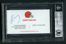 Jimmy Haslam signed autograph auto Cleveland Browns Business Card BAS Slabbed