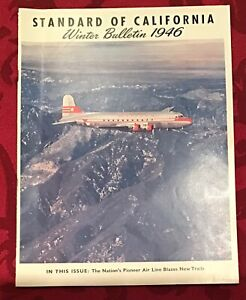 1946 Standard Oil of California Winter Bulletin Pioneer Western Airlines