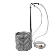 New, Super Efficient 50' Stainless Steel Wort Chiller