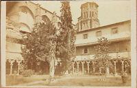 Chiostro Di Agostiniani Tolosa Francia CDV Vintage Albumina Ca 1870