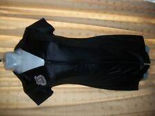 ss58   Sexy Black Wet Look POLICE Mini Dress / Uniform size10