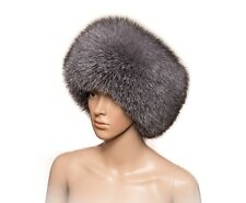 Saga Furs Blue Frost Silver Fox Fur Handmade Always Trendy Classic Winter Hat