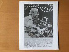 Rare European Jazz Musician: Jazz Violinst - le jazz hot Pbs Publicity Photo