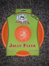 2 PACK Jolly Flyer Rubber Dog Frisbee 9.5 inch Orange