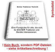 Eicher Traktoren Schlepper - Technik Entwicklungen Patente Patentschriften