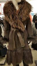Genuine Viva Dolce Vita Goat Fur Coat Free Shipping