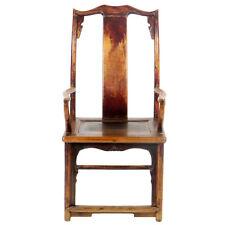 Antique Chinese High Back Elm Armchair Arm Chair