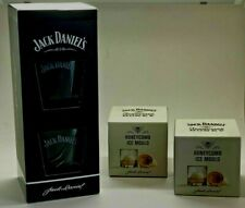 JACK DANIELS Gift Pack 2 X GLASSES + 2 X TENNESSEE HONEY ICE MOULDS - HOME BAR