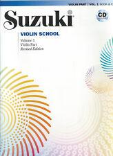 SUZUKI VIOLIN SCHOOL VOLUME 1 BOOK & CD - REVISED EDITION - VIOLIN