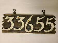 New listing 33655 Street Number on Weathered Walnut with hanging hooks