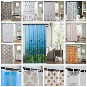 Extra Long Shower Curtain Waterproof Polyethylene vinyl Fabric Bathroom Curtains
