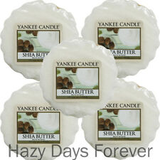 5 YANKEE CANDLE WAX TARTS MELTS Shea Butter BUY 2 SAVE 20% Fresh Scent