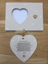 Shabby personalised Gift Chic Gift For Daughter On Her Wedding Day Photo Frame