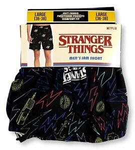 Mens Large 36-38 Stranger Things Sleep Jam PJ Pajama Jam Shorts Gift TV Cute