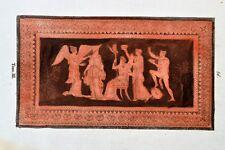 Griechische Mythologie Vasen Greek Mythology Vases ca 1850 Original Etching 56