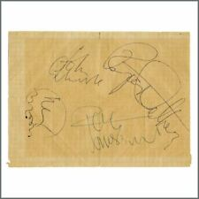The Who 1970 Offenbach Autographs (Germany).