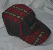 Polo Ralph Lauren Wool Hunting Plaid Trapper Cap Red Hat rrl rare L