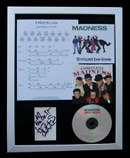 MADNESS+SUGGS+IT MUST BE LOVE+SIGNED+FRAMED=100% AUTHENTIC+EXPRESS GLOBAL SHIP