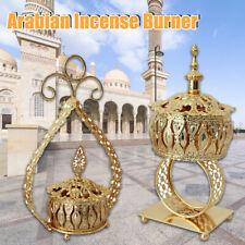 Arabian Incense Burner Bakhoor Censer Metal Eid Traditional Mabkhara Home