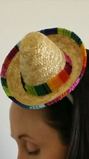 Mexican poncho (Light-weight) and Mini Sombrero
