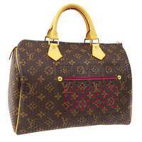 LOUIS VUITTON SPEEDY 30 HAND BAG SP0016 FUCHSIA MONOGRAM PERFO CANVAS AK43980
